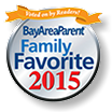 Bay Area Parent Magazine Family Favorite award for 2015